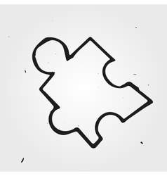 puzzle isolated hand drawn vector image