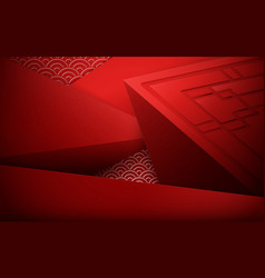red abstract 3d polygonal and geometric background vector image