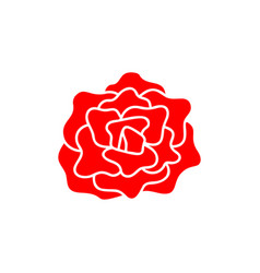 rose flower icon design vector image