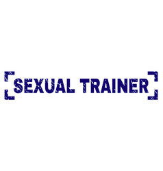 Scratched textured sexual trainer stamp seal vector