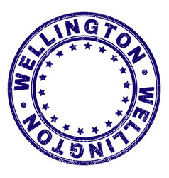 Scratched textured wellington round stamp seal vector