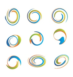 Set of swirls vector