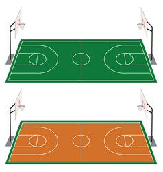 set of two basketball courts vector image
