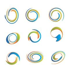 Set swirls vector
