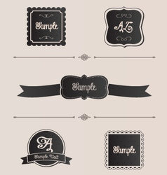 Shabby chic design elements frames and dividers vector image