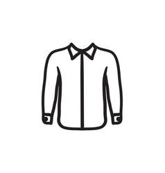 Shirt sketch icon vector