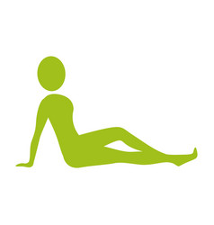Silhouette woman relaxing her body vector