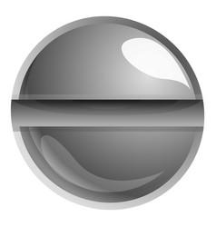 Slotted screw head icon cartoon style vector