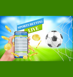 sports betting banner live bet application service vector image