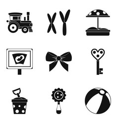 Street toy icons set simple style vector