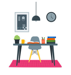 study desk vector image