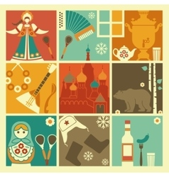 Traditional symbols of russia vector