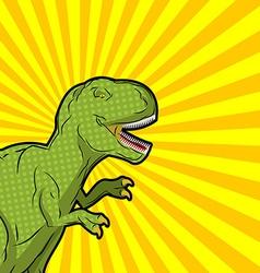 Tyrannosaurus pop art style Angry prehistoric vector image