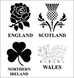 United Kingdom emblems vector image