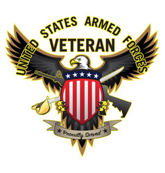 united states armed forces veteran vector image
