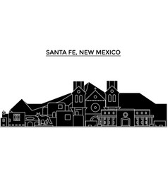 Usa santa fe new mexico architecture city vector