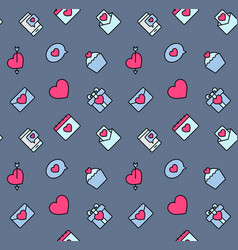 valentines day patterns seamless with hearts and vector image