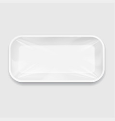 white styrofoam food tray pack vector image