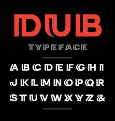 Wide font alphabet with latin letters and numbers vector