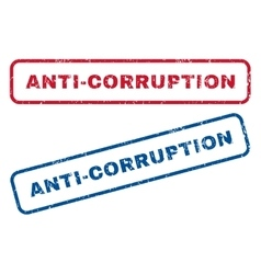 Anti-corruption rubber stamps vector