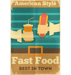 Fast Food Fun Poster vector image vector image