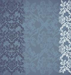 Floral border vertical background vintage vector image