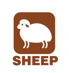 sheep stylized icon or sign template vector image vector image
