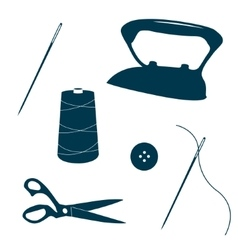 Tailor design elements vector image vector image