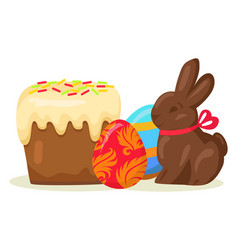 traditional easter treats isolated vector image vector image
