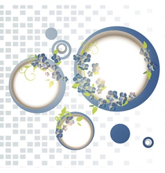 abstract forget-me-not flower frames vector image