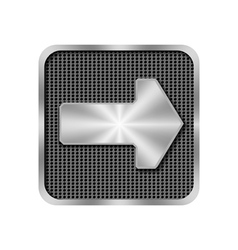 Metal arrow on background with holes vector image vector image