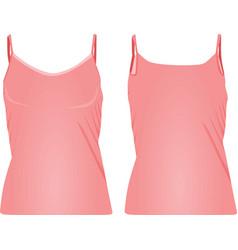 pink strap t shirt vector image