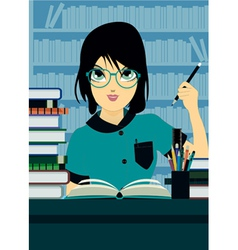 Student writing vector image vector image