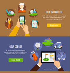 booking golf course and instructor banners vector image