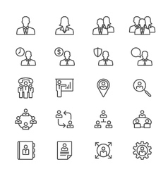 Business thin icons vector image vector image