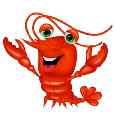 Cute lobster cartoon presenting vector image vector image