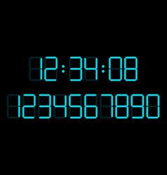 digital numbers set vector image