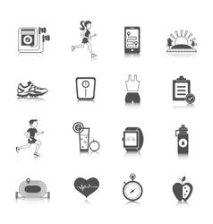 Jogging Icons Black vector image vector image