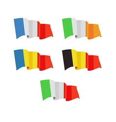 a Flags of Europe Countries vector image vector image