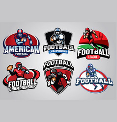 american football badge design set vector image vector image