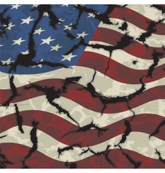 American grunge flag Grunge effect can be cleaned vector image vector image