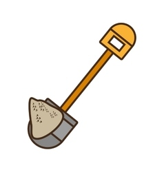 cartoon mining mineral sand shovel vector image