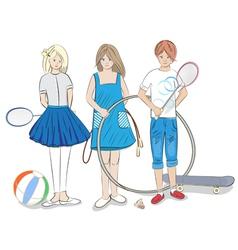 Group of children vector image