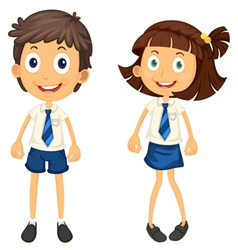 kids with pencil vector image vector image