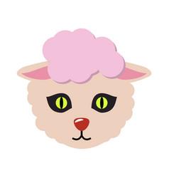 sheep animal carnival mask cute wooly lamb vector image vector image