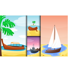 summer time boat vacation nature tropical beach vector image vector image