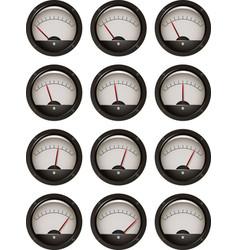 11 steps an analog meter vector