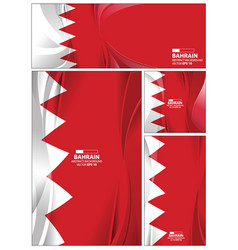 abstract bahrain flag background vector image