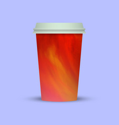 Abstract coffee cup to go vector