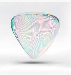 abstract colorful curve mesh triangle on white vector image
